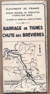 Vieux Papiers > Cartes > Non Classés Barrage De Tignes Chute Des Brevieres - Maps