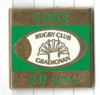 Rugby : Rugby Club Gradignan 1992 20 Ans - Rugby