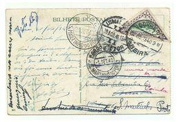 Portugal_companhia De Moçambique - Marcofilia - Postal - Beira Até S. Martinho Do Porto - 50c Triangle Stamp - Mozambique