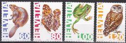 Schweiz 1995 - Mi.Nr. 1544 - 1547 - Postfrisch MNH - Tiere Animals - Unused Stamps