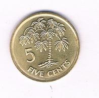 5 CENTS  2007 SEYCHELLEN /5052/ - Seychelles