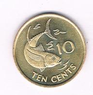 10 CENTS  2007 SEYCHELLEN /5053/ - Seychelles