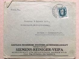 CZECHOSLOVAKIA 1926 Cover Prague To Berlin  - `Siemens Reiniger Veifa` - Tschechoslowakei/CSSR