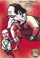 CPM LAPLEAU 19 Corrèze Timbre Monnaie Tirage Limité Numéroté Et Signé En 30 Exemplaires Elie Rouby Chirac Sumo - Autres Communes