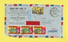 Lettre Recommandée De SAÎGON Par Avion Au Vietnam Pour PARIS Le 24 01 72 Voir Scanners Guerre Du Vietnam Avant Pendant - Viêt-Nam