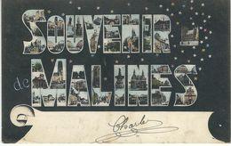 Souvenir De MALINES - Cachet De La Poste 1906 - Malines