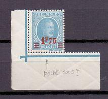 248V1 Varieteit Punt Onder De F 1927 Postfris** - Errors And Oddities