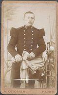 Petite Photo Cartonnée Soldat Du 131 ème  Photographe Grossin Paris - Non Classificati