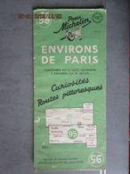 """Carte Routière Michelin N:95 Environs De PARIS """"curiosités Routes Pittoresques"""" Vers Forêt De Fontainebleau 1950 - Cartes Routières"""