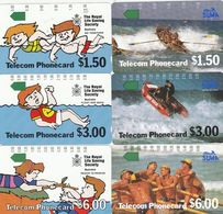 Australia, T1C1-1 - T1C1-6, Set Of 6 Cards, Trial Cards - Geelong Issue, Mint, 2  Scans. - Australie