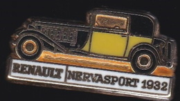 65672- Pin's-Automobile.Renault.nervasport 1932.signé CEF Paris. - Renault