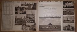 """: Vieux Papier : Protège Cahier : CAEN """" La Maison Du Biscuit """" , Le Mont Saint Michel,saumur,,breton,menhirs - Papel Secante"""