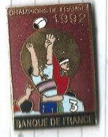 Rugby : Banque De France Champions De France 1992 - Saut En Touche - Rugby