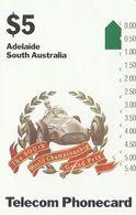 Australia, T2C7,  Trial Cards - National States Series, Grand Prix-Adelaide, 2 Scans.  NB : Slight Bend Top Left - Australie