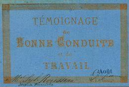 TEMOIGNAGE DE BONNE CONDUITE ET DE TRAVAIL - Diploma & School Reports