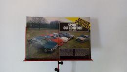 Coupure De Presse De 1989 Dossier Sportives-Sport Ou Confort ? - Voitures