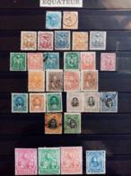 EQUATEUR.1872 à 1899. LOT De 29 Timbres ( Dont 14 Neufs ).Côte Yvert 22,75 €. - Equateur