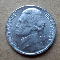1989 P - STATI UNITI  USA Five Cent - Jefferson - Circolata - Federal Issues