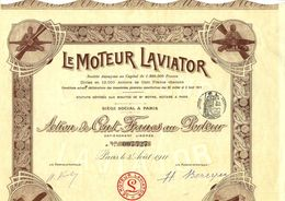 1911 GRAND FORMAT LE MOTEUR LAVIATOR AVIONS AVIATION TOUS COUPONS PRESENTS B.E. COTE 60 EUROS - Aviation