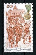 POLYNESIE 2018 N° 1202 ** Neuf MNH Superbe Centenaire 1ère Guerre Mondiale Soldats Croix De Guerre War - Neufs