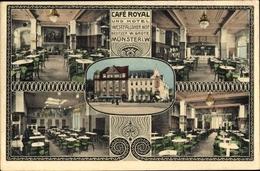 Cp Münster In Westfalen, Café Royal Und Hotel Westfälischer Hof, Bes. W. Grote - Allemagne