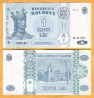 """2013 Moldova ; Moldavie ; Moldau  """"5 LEI  2013""""  UNC - Moldavie"""