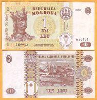 """2005 Moldova ; Moldavie ; Moldau  """"1 LEI  2005""""  UNC - Moldavie"""