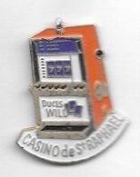 Pin' S  Ville, Jeux, Machine à Sous  Orange Et Blanche, CASINO  De  ST RAPHAËL  ( 83 ) - Jeux