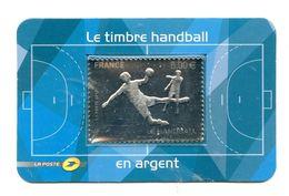 TIMBRE HANDBALL ARGENT DANS EMBALLAGE ORIGINE - 50 % FACIALE - Handball