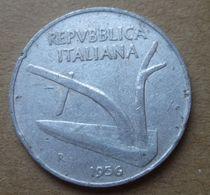 1956 R - ITALIA 10 Lire Spighe - Circolata - 10 Lire
