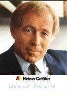 Geißler, Heiner 1930-2017 Landesminister Rheinland-Pfalz - Autographs