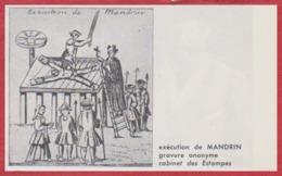 Exécution De Louis Mandrin. Gravure. Contrebandier. Larousse 1960. - Historical Documents