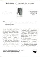 Secrétariat D'État Aux Postes Et Télécommunications (N° 26 De 1977) - Mémorial Du Général De Gaulle - Documents Of Postal Services