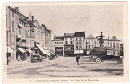 Prix Fixe - CHALONS-sur-MARNE - Place De La République - 1939 - Tacots - 3-8/4 - Châlons-sur-Marne