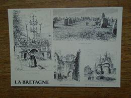 """Bretagne , Gravures Extraites De L'ouvrage La Bretagne """" Au Pays Des Druides Et Des Fées """" - Bretagne"""