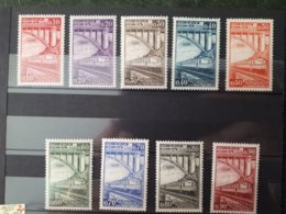 Timbre Belgique : Chemins De Fer 1935 Cob N° CF178 à CF 186 NEUF *  & - Bahnwesen