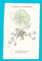 Ste Catherine Bonnet Fleurs -Illustrateur - Sainte-Catherine