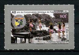 POLYNESIE 2019 N° 1225 ** Neuf MNH Superbe Conservatoire Artistique Musique Piano Danseuses Autoadhésif - Neufs