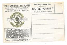PARIS (75) Carte Commerciale Publicitaire Ligue Sanitaire Française 72 Rue De Rome Lutte Animaux Nuisibles - Distrito: 08