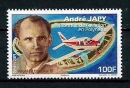 POLYNESIE 2019 N° 1226 ** Neuf MNH Superbe Personnalité André Japy Aviation Avions Planes Transports - Neufs