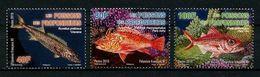 POLYNESIE 2019 N° 1228/1229 ** Neuf MNH Superbe Faune Marine Poissons Perche Etelis Rouvet Scorpion Fishes - Neufs