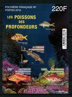 POLYNESIE 2019 Bloc N° 50 ** ( 1228/1229 ) Neuf MNH Superbe Faune Marine Poissons Perche Etelis Rouvet Scorpion Fishes - Neufs