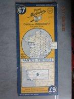Carte Routière MICHELIN N:67 NANTES  - POITIERS  édition 1951 - Cartes Routières