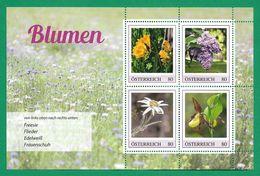 Österreich  2020  ,  Blumen - Marken-Edition - Postfrisch / MNH / (**) - 2011-... Unused Stamps
