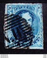 N° 7 OBL.   N II  ( ANVERS-BRUXELLES)   4 M.    1851 - 1851-1857 Medaillen (6/8)