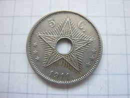 Congo Belgian , 5 Centimes 1911 - Congo (Belgian) & Ruanda-Urundi