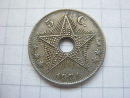 Congo Belgian , 5 Centimes 1921 - Congo (Belgian) & Ruanda-Urundi