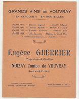 Indre Et Loire, Noizay, Grands Vins De Vouvray  E. Perrier 1928 (2 Scans) - Food