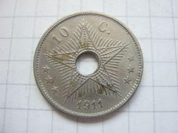 Congo Belgian , 10 Centimes 1911 - Congo (Belgian) & Ruanda-Urundi