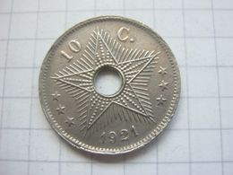 Congo Belgian , 10 Centimes 1921 - Congo (Belgian) & Ruanda-Urundi